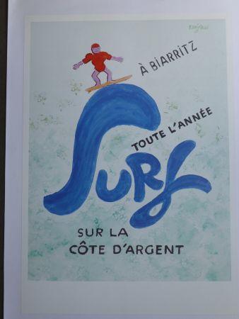 Manifesti Savignac - Surf à Biarritz toute l'année sur la côte d'argent