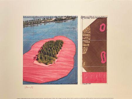 Litografia Christo - Surronded islands, Miami