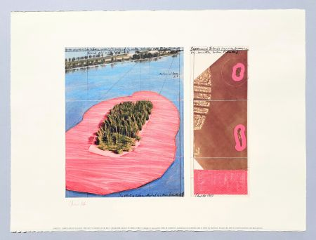 Litografia Christo - 'Surrounded islands, project for Biscane Bay'