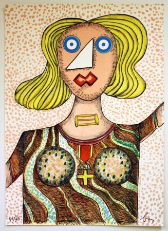 Litografia Baj - Swedish Lady