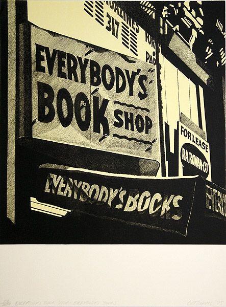 Litografia Cottingham - Switzerland Everybody´s bookshop