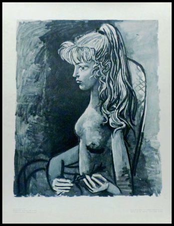 Litografia Picasso (After) - SYLVETTE AU FAUTEUIL