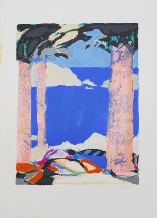 Litografia Godard - Symphonie en bleu IV