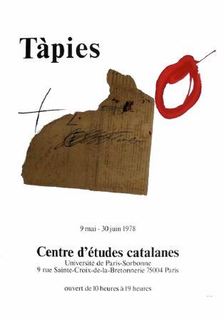 Manifesti Tàpies - TÀPIES 78. Affiche pour une exposition à La Sorbonne, Paris.