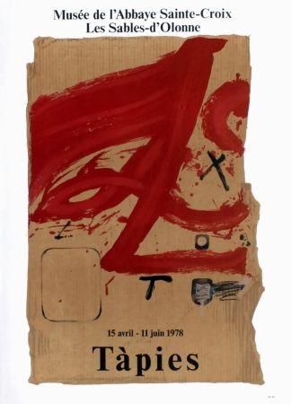 Manifesti Tàpies - TÀPIES 78. Affiche pour une exposition à l'Abbaye de Sainte Croix.