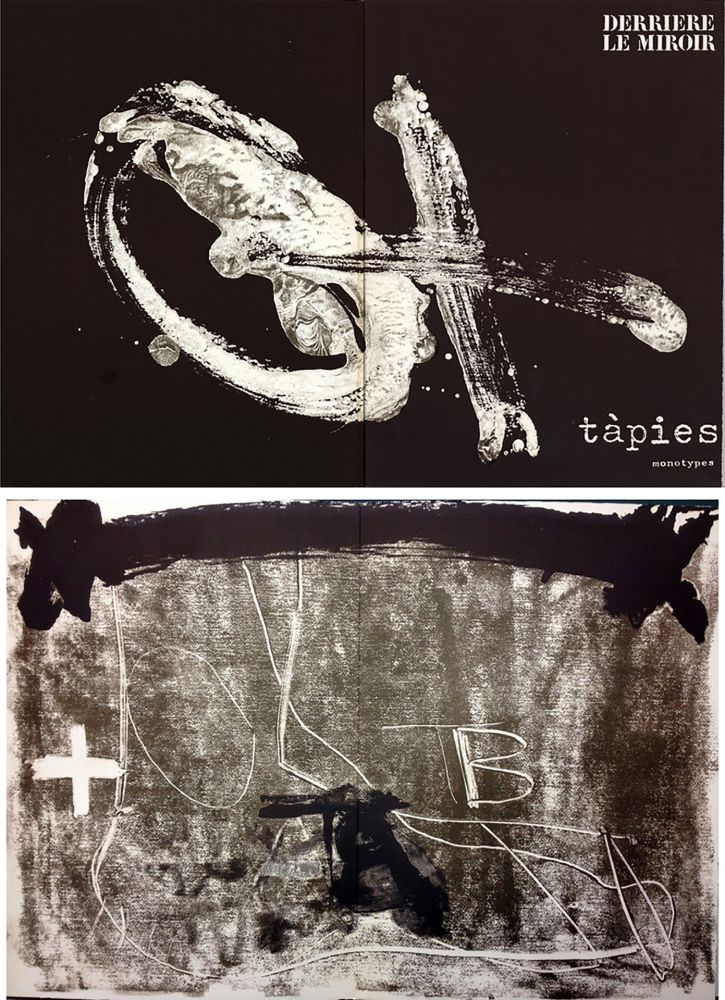 Libro Illustrato Tàpies - TÀPIES. Monotypes . Derrière le Miroir n° 210. Juin 1974