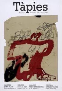 Manifesti Tàpies - Tàpies. Barcelona Novembre 1986 - Gener 1987