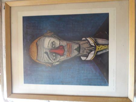 Litografia Buffet - Tête De Clown