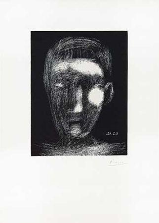 Linoincisione Picasso - Tête de garçon