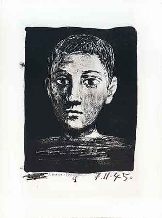 Litografia Picasso - Tête de jeune garçon