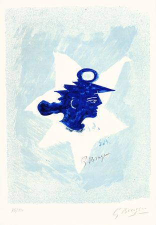 Litografia Braque - Tête grecque (Grecian Head)
