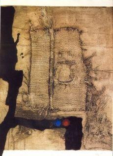 Acquaforte Clavé - Table et toile de sac