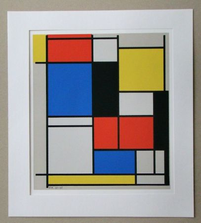 Serigrafia Mondrian - Tableau II. - 1921/25