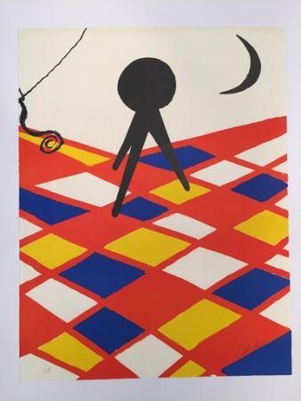 Litografia Calder - Tabouret à trois pieds