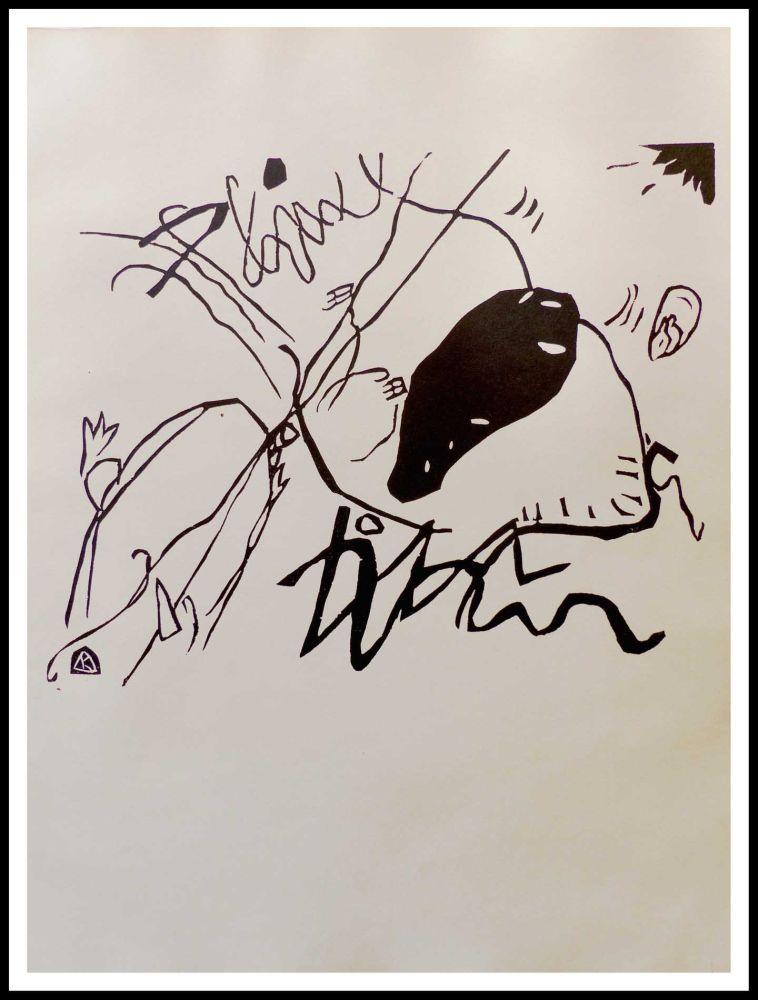 Incisione Su Legno Kandinsky - TACHE NOIRE