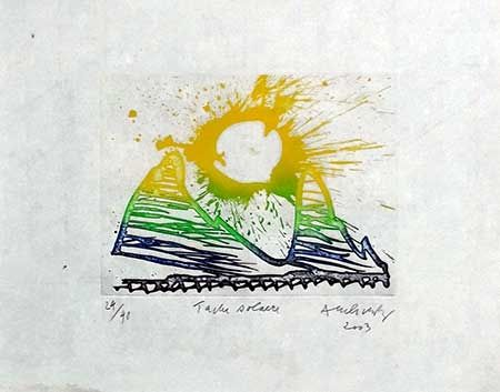 Incisione Alechinsky - Tache Solaire