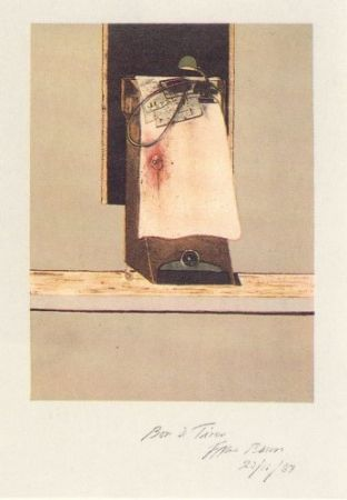 Incisione Bacon - Taken from a photograph of Trotsky's study in Mexico, 1940
