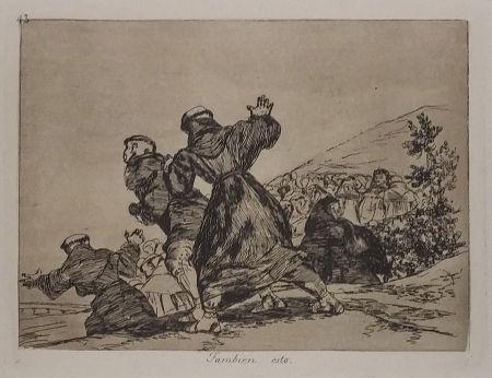 Incisione Goya - TAMBIEN ESTO
