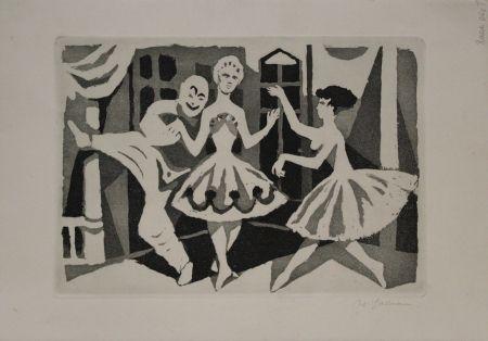 Acquatinta Hartmann - Tanz / Dance