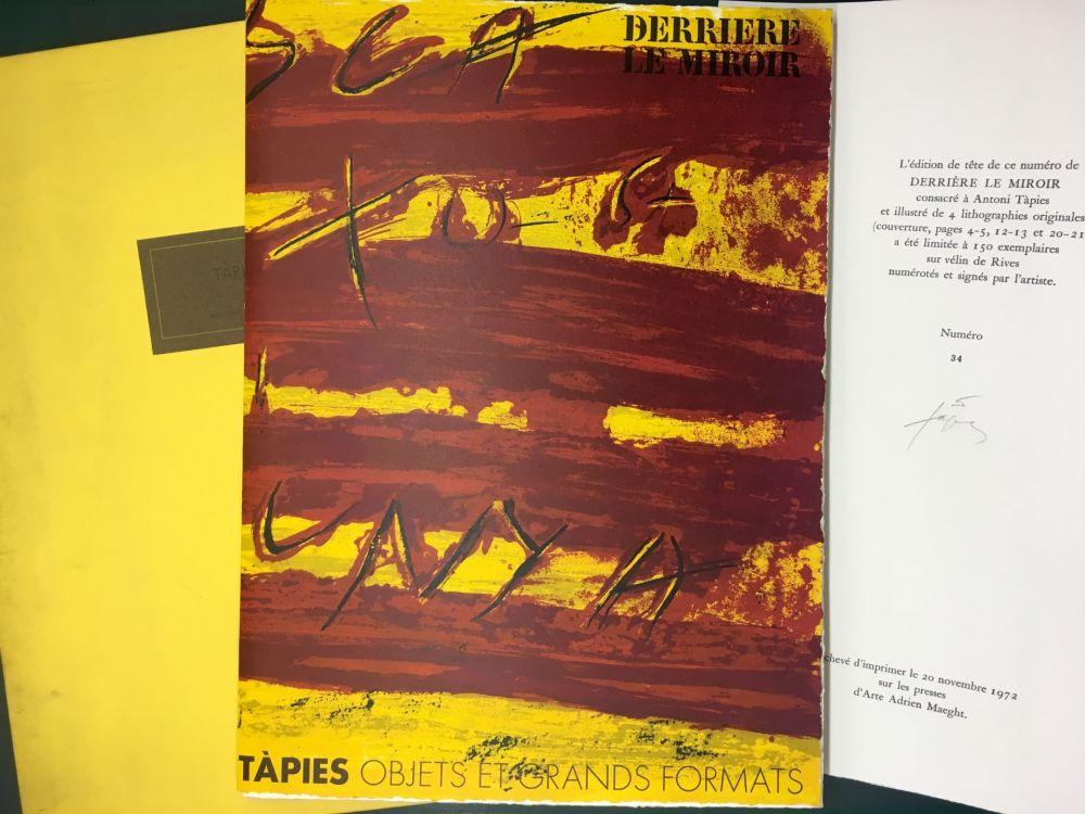 Libro Illustrato Tàpies - TAPIES : Objets et grands formats. DERRIÈRE LE MIROIR N° 200. 1972 - DE LUXE SIGNÉ.