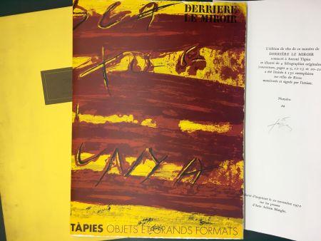 Libro Illustrato Tapies - TAPIES : Objets et grands formats. DERRIÈRE LE MIROIR N° 200. 1972 - DE LUXE SIGNÉ.