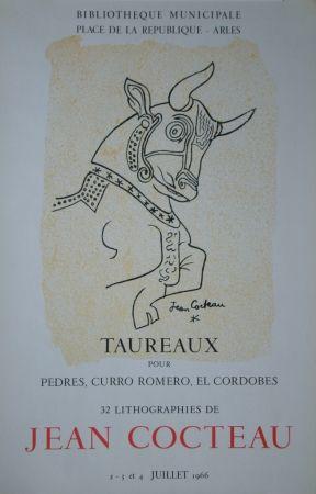 Litografia Cocteau - Taureaux