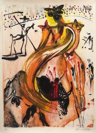 Litografia Dali - Tauromaquia con mariposas