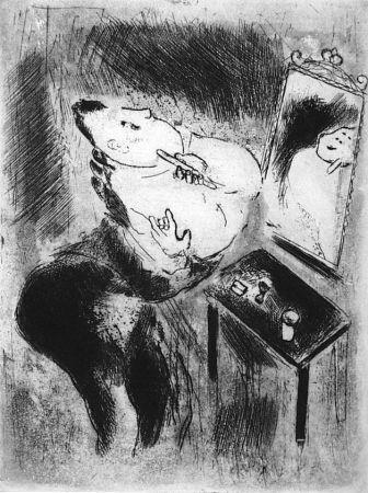 Acquaforte Chagall - Tchitchikov Se Rase