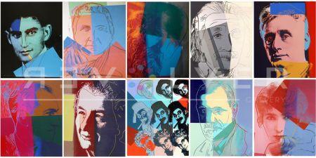 Serigrafia Warhol - Ten Portraits of Jews of the Twentieth Century (Trial Proof) (Full Suite)