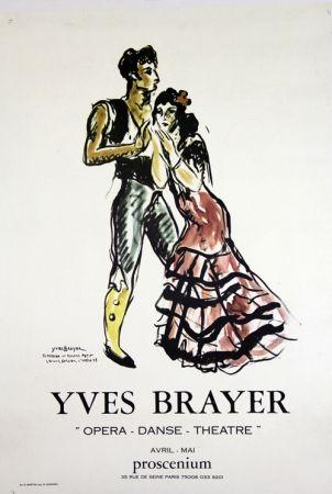 Litografia Brayer - Teresina et Roland Petit