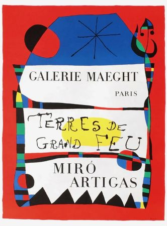 Manifesti Miró - TERRES DE GRAND FEU. MIRO ARTIGAS. Exposition 1956.