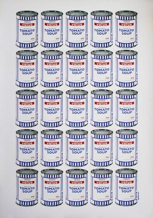 Litografia Banksy - Tesco Soup Can