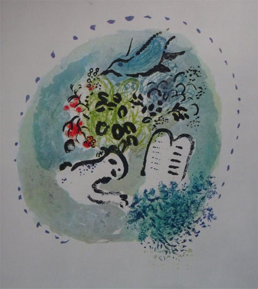 Litografia Chagall - Tete de Chapitre