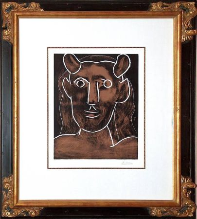 Linoincisione Picasso - Tete De Faune (B. 1094)