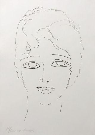 Litografia Van Dongen - Tete de Femme