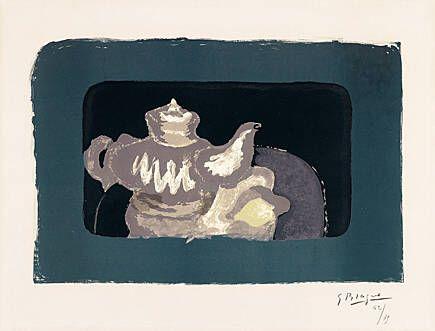 Litografia Braque - Théière grise