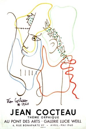 Litografia Cocteau - Thême Orphique Galerie Lucie Weill