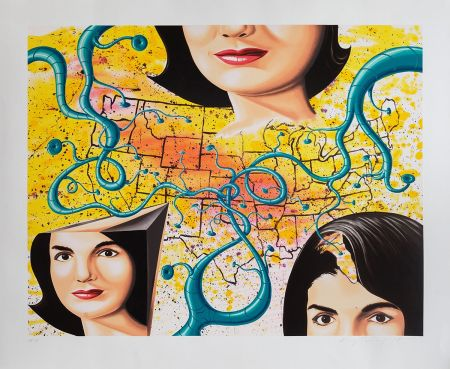 Serigrafia Scharf - THE 3 FACES OF JACKIE THE AMERICAN