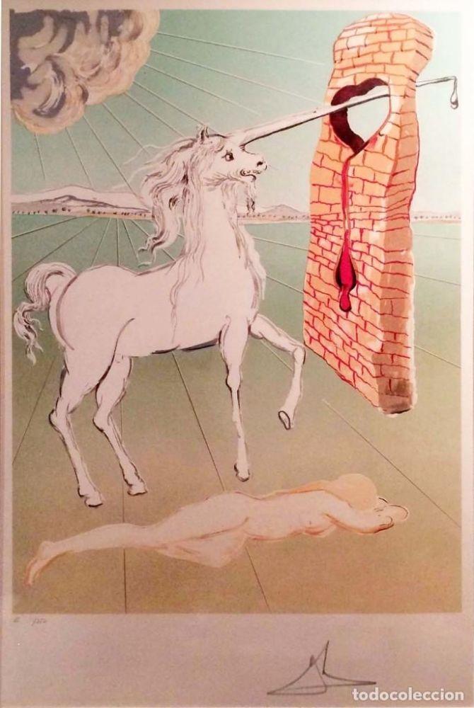 Litografia Dali - The agony of love