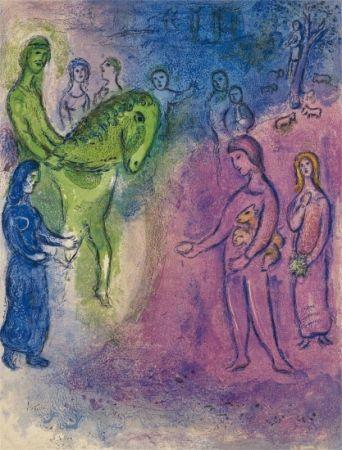 Litografia Chagall - The Arrival of Dionysophane