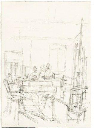 Litografia Giacometti - The Artist's Studio