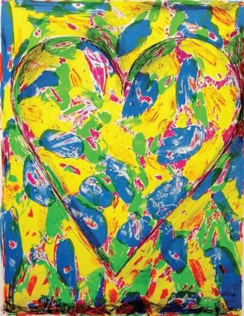 Litografia Dine - The Blue Heart