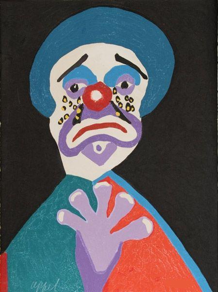Acquaforte E Acquatinta Appel - The clown with the golden tears