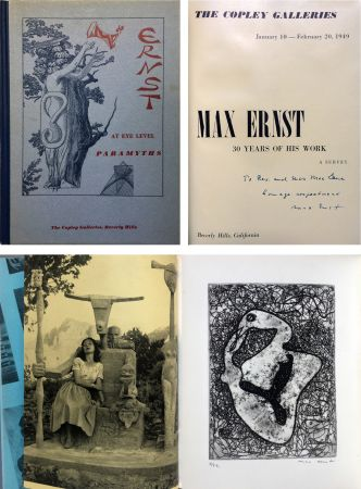 Acquaforte Ernst - The Copley Galleries. At Eye Level. Paramyths. Max Ernst, 30 years of his work.