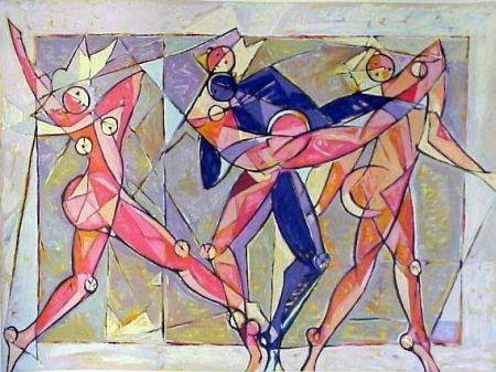 Litografia Kahn - The Dance