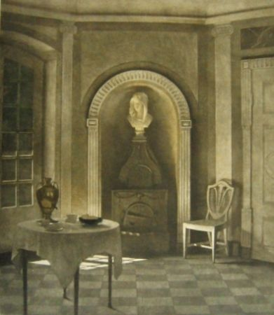 Maniera Nera Ilsted - The dining room at Liselund