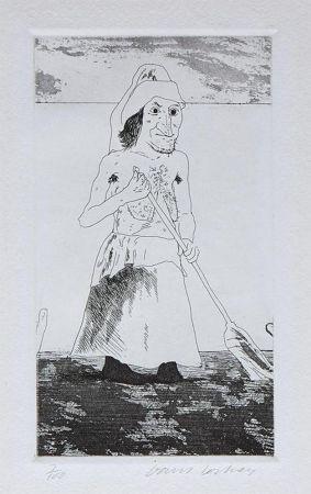 Incisione Hockney - The Enchantress in Her Garden