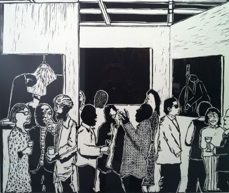 Linoincisione Nhlengethwa - The Exhibition Launch