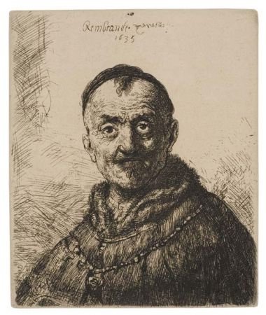 Incisione Rembrandt - The First Oriental Head