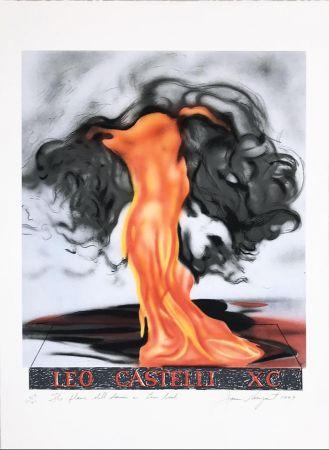Litografia Rosenquist - The Flame Still Dances on Leo's Book (not in Glenn) from the portfolio of Leo Castelli's 90th Birthday